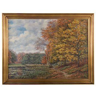 Alfred V. Jensen. Autumn Landscape, oil