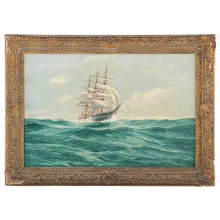 Jay Arnold. Ship portrait of the Ann McKim, oil