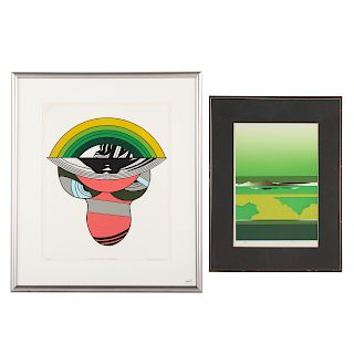 Two contemporary Japanese serigraphs