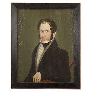 American School, 19th c. Portrait of a Gentleman