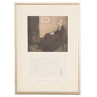 James Whistler. Signed Letter