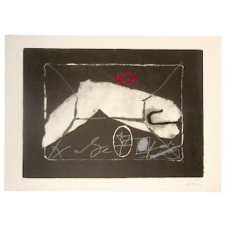 Antoni Tapies. Untitled, lithograph