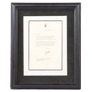 Jackie Kennedy signed letter