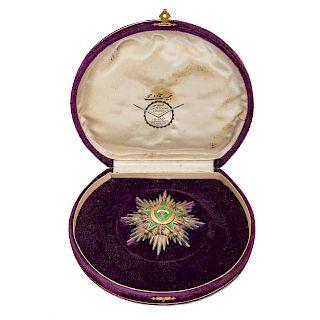 Middle Eastern enameled medal