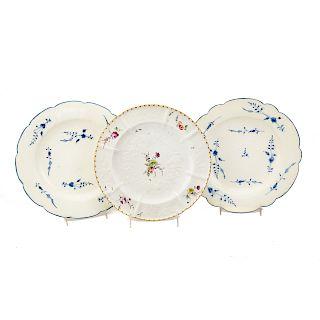 Three Continental soft paste plates