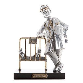 Frank Meisler. Doctor in the House metal sculpture