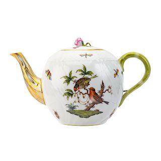 Herend porcelain globular teapot