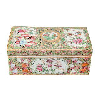 Chinese Export Rose Medallion pen box