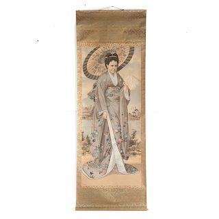 T. Nakayama. Mrs. Ada Symms portrait scroll