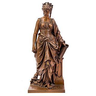 Eutrope Bouret. Clio, Muse of History bronze