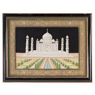 Indian stumpwork Taj Mahal picture
