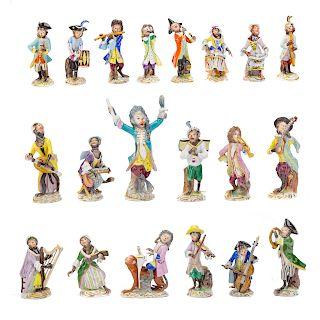 Volkstedt porcelain 20-piece monkey band