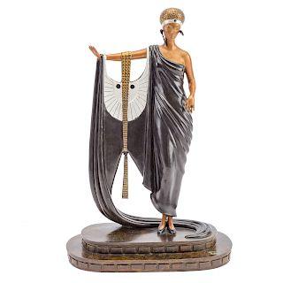 Erte. Sophisticated Lady, bronze sculpture