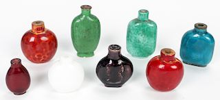 8 Fine Antique Chinese Snuff Bottles