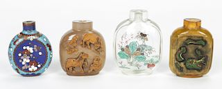 4 Fine Antique Chinese Snuff Bottles