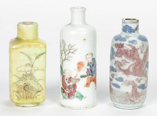 3 Fine Antique Chinese Snuff Bottles