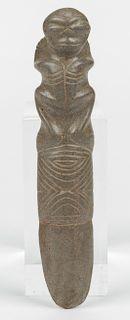Taino Anthropo-zoomorphic Vomit Stick (1000-1500 CE)