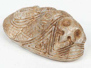 Taino Marble Cemi / Stamp (1000-1500 CE)