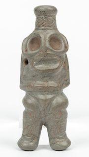Impressive Large Taino Standing Anthropic Cohoba Snuffer (1000-1500 CE)