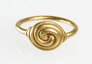 22K Gold Double Spiral Ring, Java c. XIV