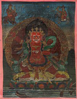 Old Tibetan Buddhist Thangka