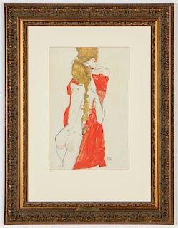 "Egon Schiele ""Mutter & Tochter"" Limited Edition Print"