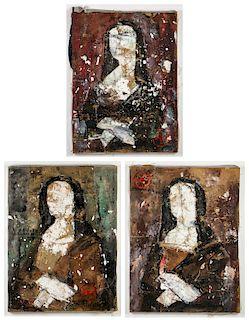 Pei Shen Qian (20th c.) 3 Mona Lisa Portraits