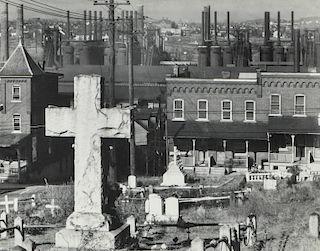 "Walker Evans (1903-1975) ""A Graveyard and Steel Mill in Bethlehem, Pennsylvania November, 1935"""
