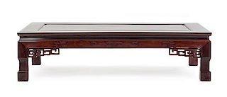 A Hardwood Low Table Height 15 x width 60 x depth 31 7/8 inches.