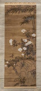 * Attributed to Chen Shu, (1660-1736), Bird and Flowers