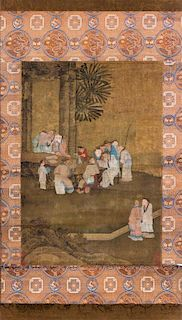 A Set of Scroll Paintings Depicting the Four Accomplishments Height 15 1/2 x width 10 5/8 inches.