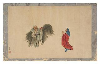 Hua Ziyou, (Qing Dynasty), Two Luohans