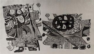 * Wu Hao, (B. 1932), Two Figures