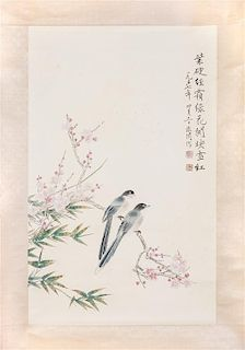 After Yu Fei'an, (1888-1959), Birds and Prunus Blossom