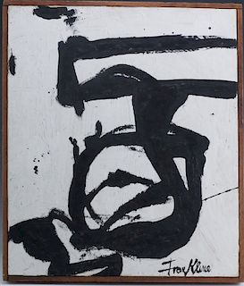 Signed Franz Kline Oil On Board Abstract Painting