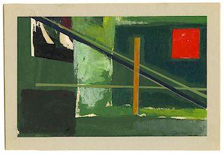 Werner Drewes - Collage # 268 - Original, Signed Collage