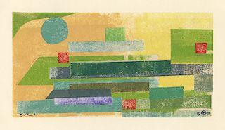 Werner Drewes - Collage # 481 - Original, Signed Collage