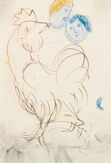 Marc Chagall, (Russian/French, 1887-1985), Rooster, 1947