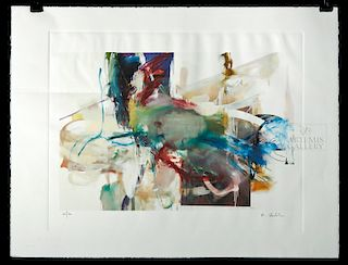 Signed Albert Oehlen Lithograph on Rives Paper, 2008