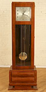 FRENCH ART DECO ROSEWOOD TALL CASE CLOCK C.1920
