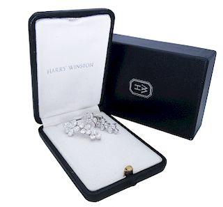 Harry Winston 10tcw Diamond Platinum Drop Earrings