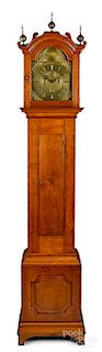 Connecticut Chippendale cherry tall case clock
