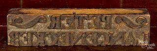 Carved bag stamp