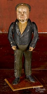 Carved and painted figure of gentleman