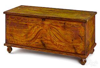 York, Pennsylvania painted pine blanket chest