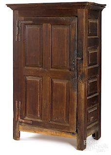 Mid-Atlantic walnut raised panel cupboard
