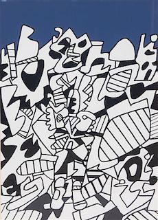 Jean Dubuffet, (French, 1901-1985), Solitude Illuminee, 1975