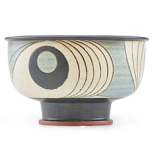 HARRISON McINTOSH Fine large footed bowl
