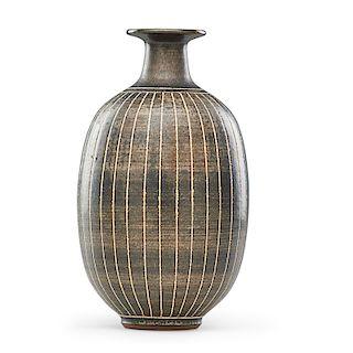 HARRISON McINTOSH Tall striped vase