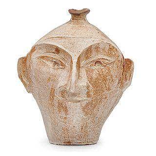 M. WILDENHAIN; POND FARM Face vase